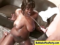 Golden shower girl piss and blowjob